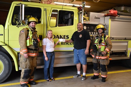 Donation to Oakes, ND Fire Department